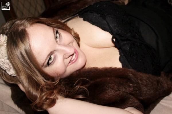 boudoir plus size woman