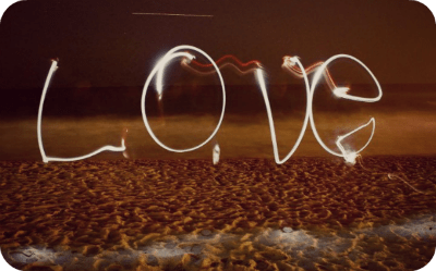 Love with sparklers