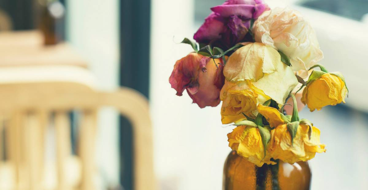 Miscarriage dried flowers