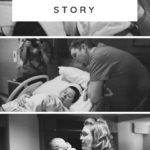 three black and white hospital birth images