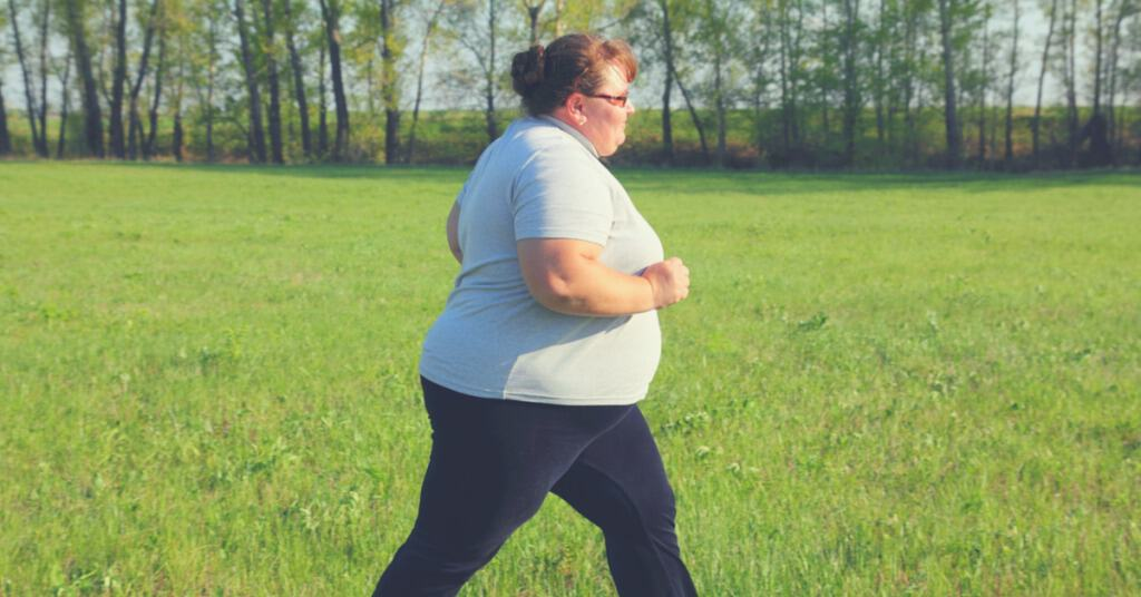 Plus Size Woman Walking