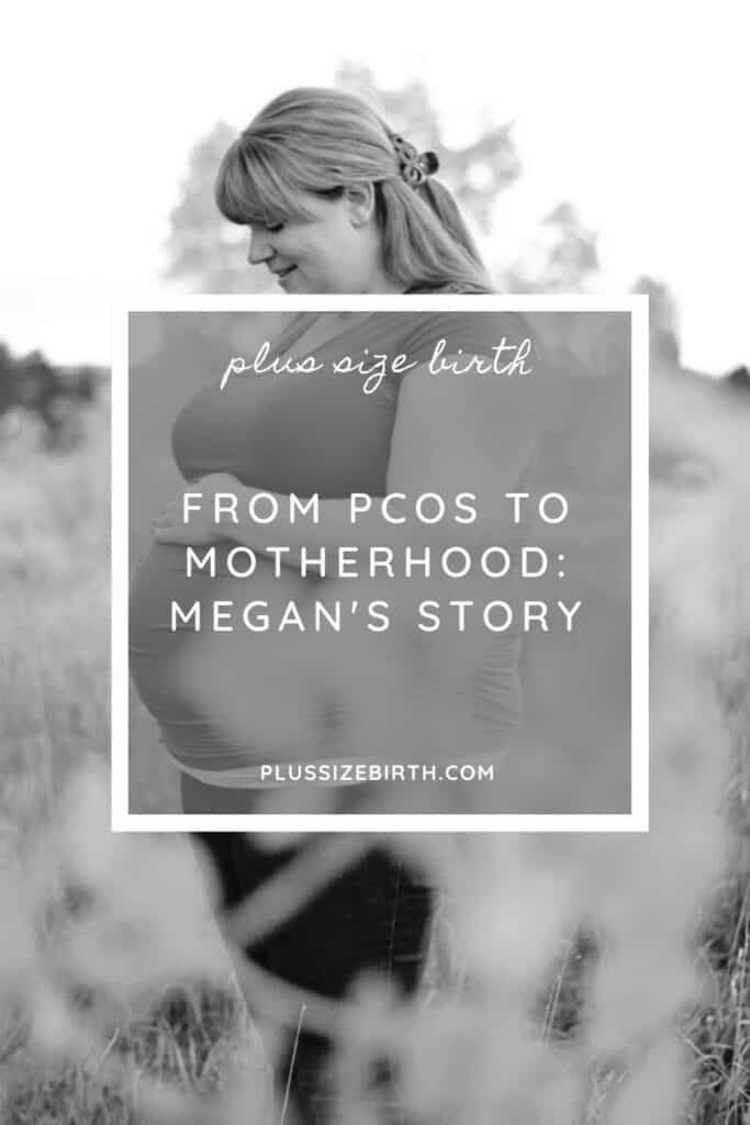 plus size woman pregnant with PCOS