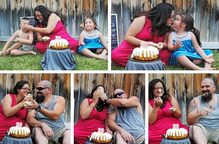 Adult Smash Cake Photo Shoot with family