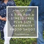 Plus Size Maternity Photo Shoot with couple holding hands