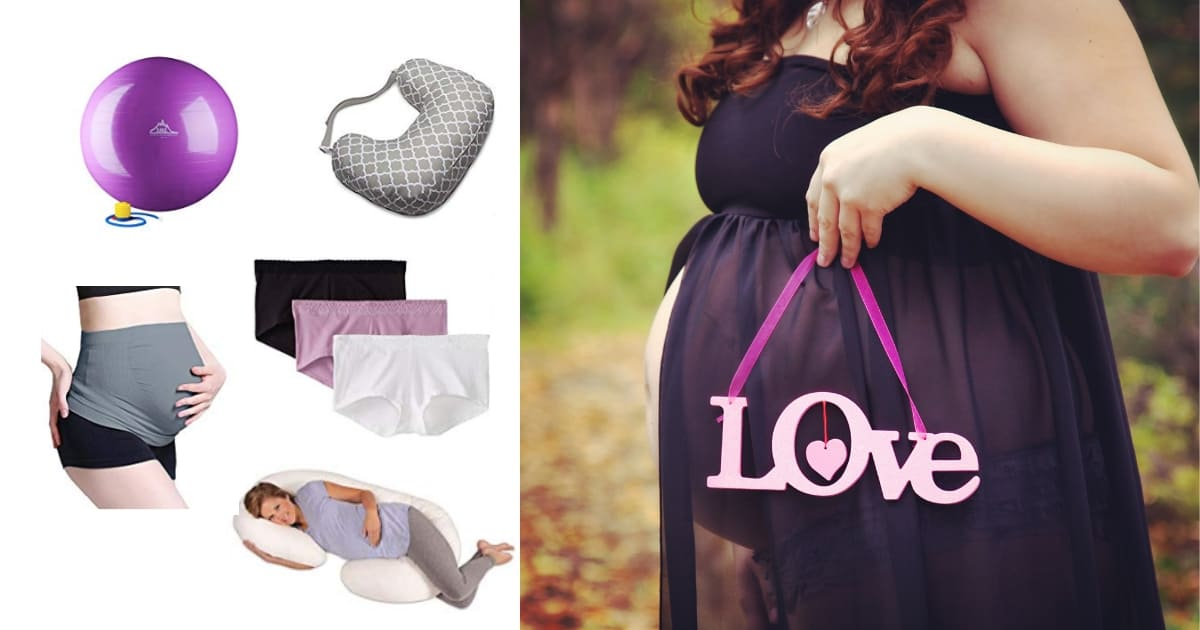 plus size pregnant woman holding a love sign