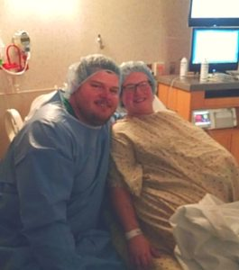 plus size woman giving birth after three pregnancy losses