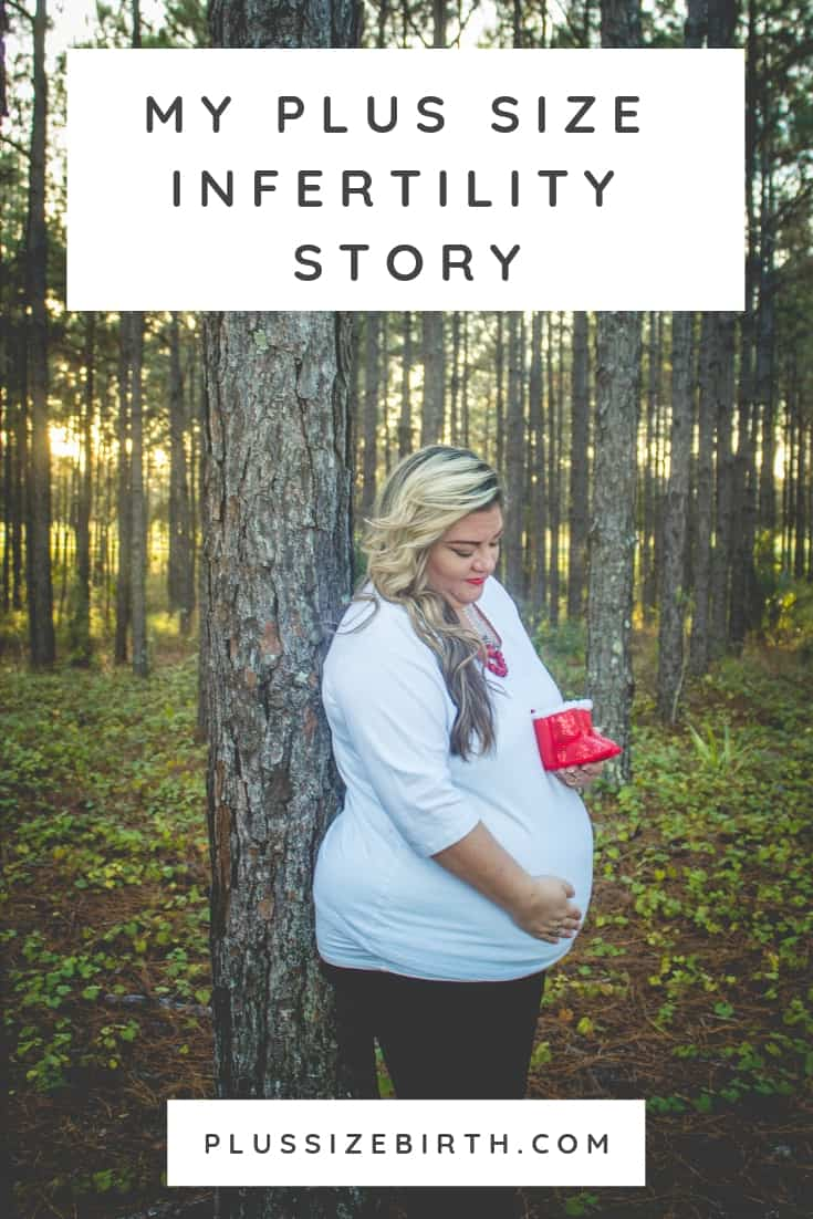 plus size pregnant woman in forest