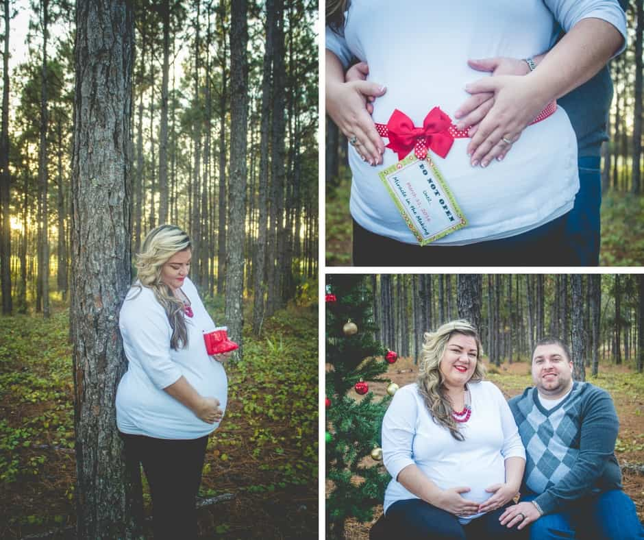plus size pregnancy holiday photo shoot