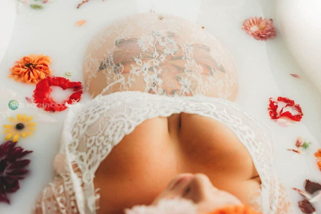 plus size milk bath photography