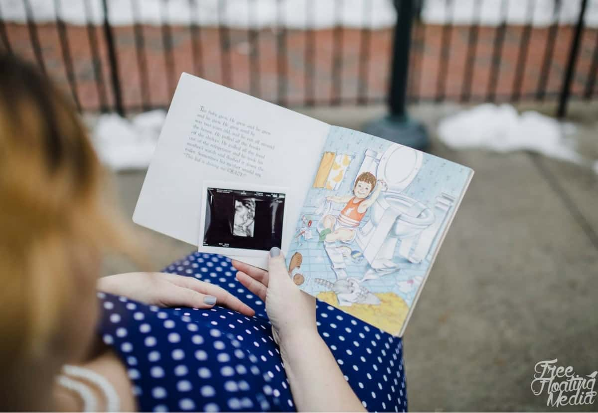 Love You Forever Book Maternity Photo Shoot