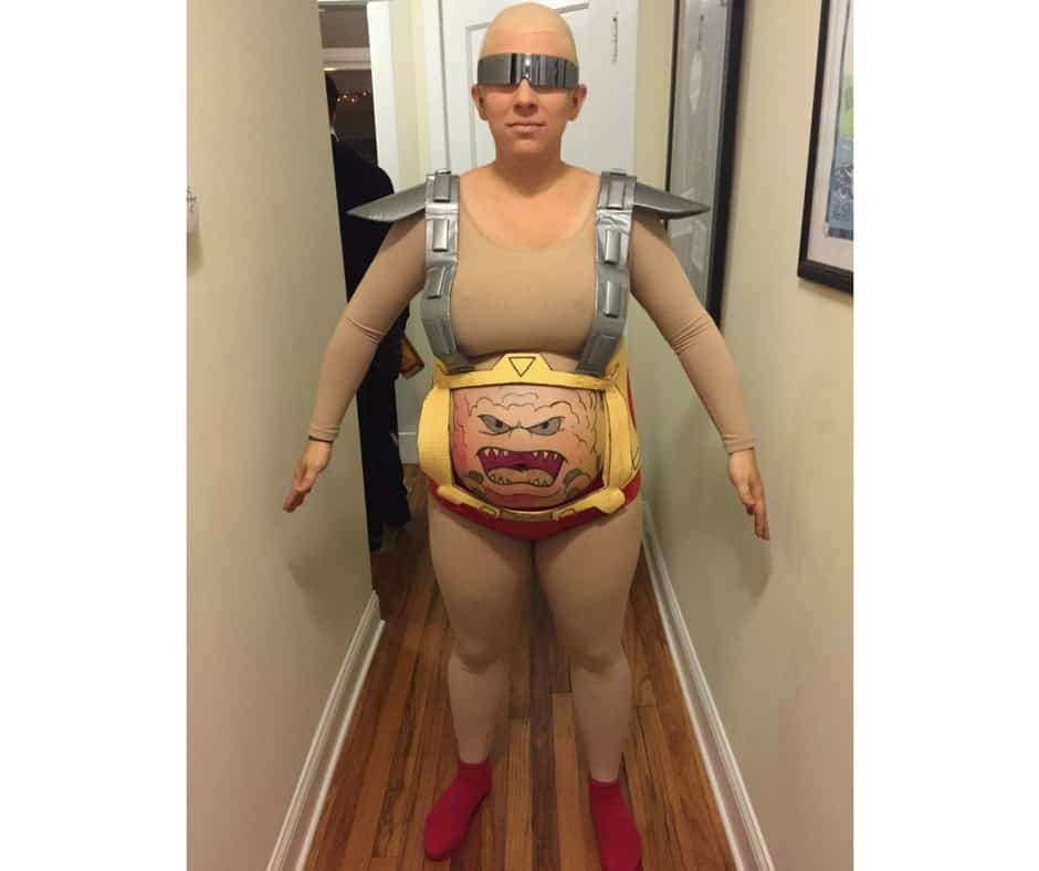 Plus Size Halloween Costume Teenage Mutant Ninja Turtles Krang Text