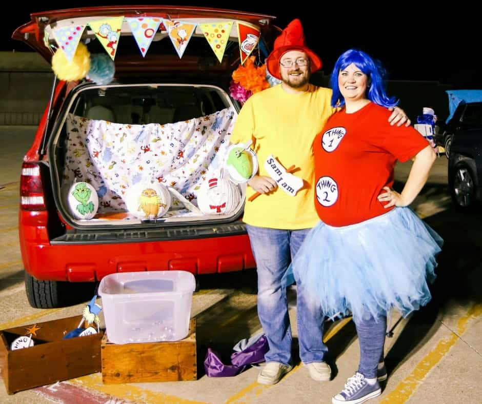Plus Size Halloween Costume Thing 1 and Thing 2