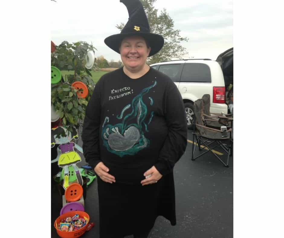 Plus Size Halloween Costume pregnant witch