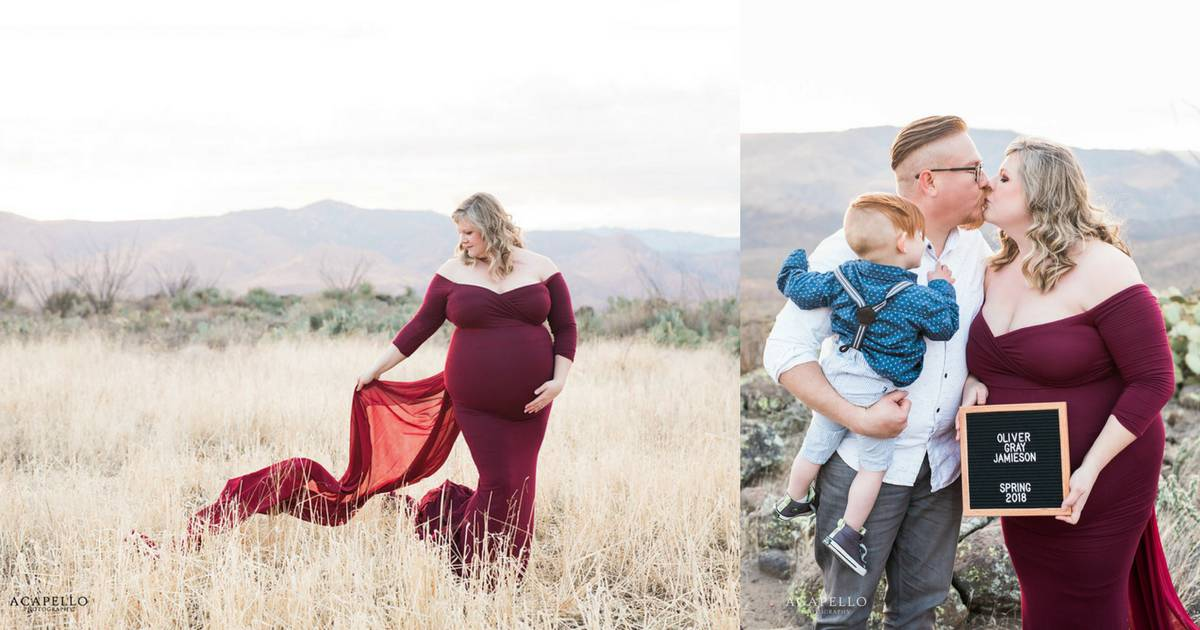 Fitted Plus Size Maternity Dress family maternity photos