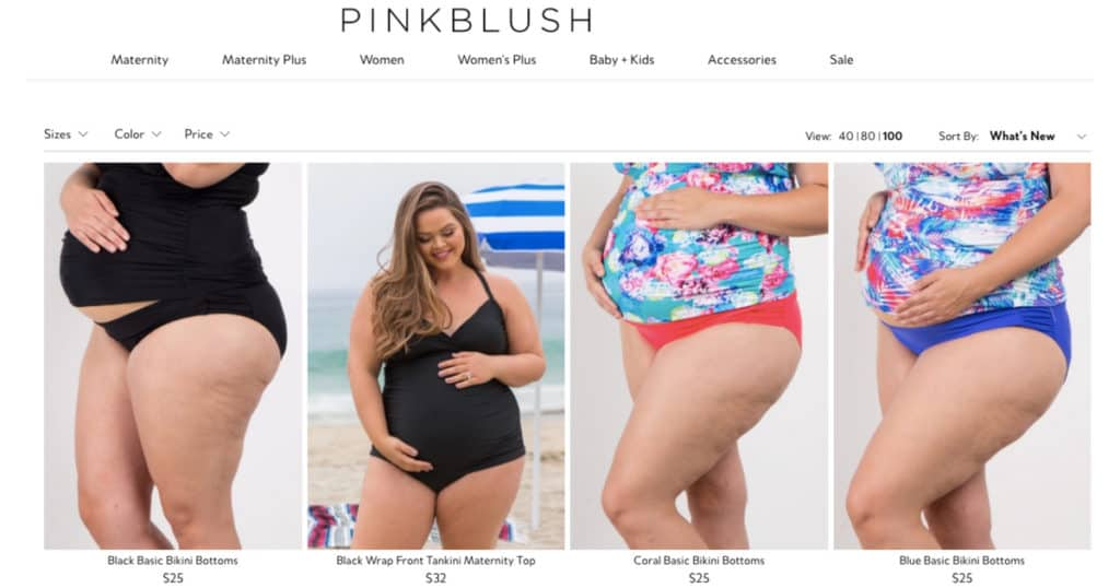 Plus Size Maternity Swimsuits featured by Pink Blush