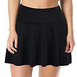 plus size high waist swim skirt