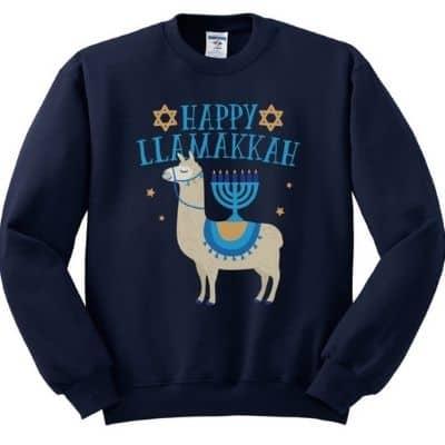 Happy Llamakkah Plus Size Sweatshirt