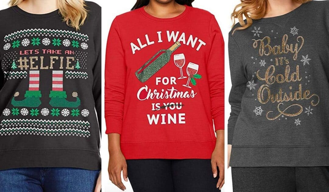 14 Adorable Plus Size Holiday Graphic Sweatshirts (Maternity Options, Too!)