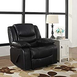 Leather Rocker Recliner Living Room