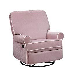 pink Swivel Glider Recliner