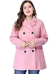 pink plus size coat
