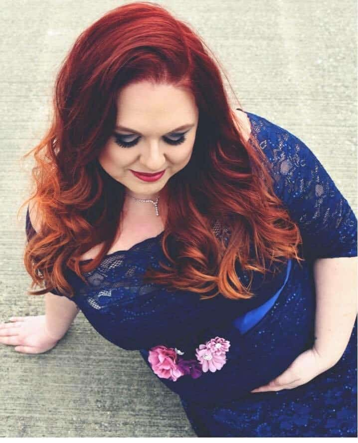 plus size maternity blue dress making room In my heart for you