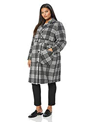checkered plus size maternity coat