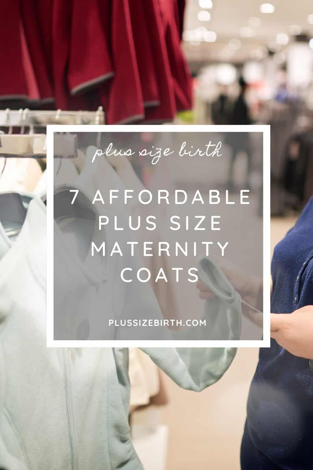 Woman shopping for a plus size maternity coat