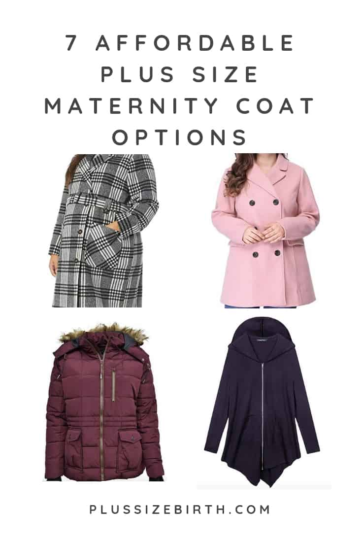 plus size maternity coats