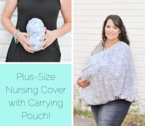plus size nursing cover with carrying pouch