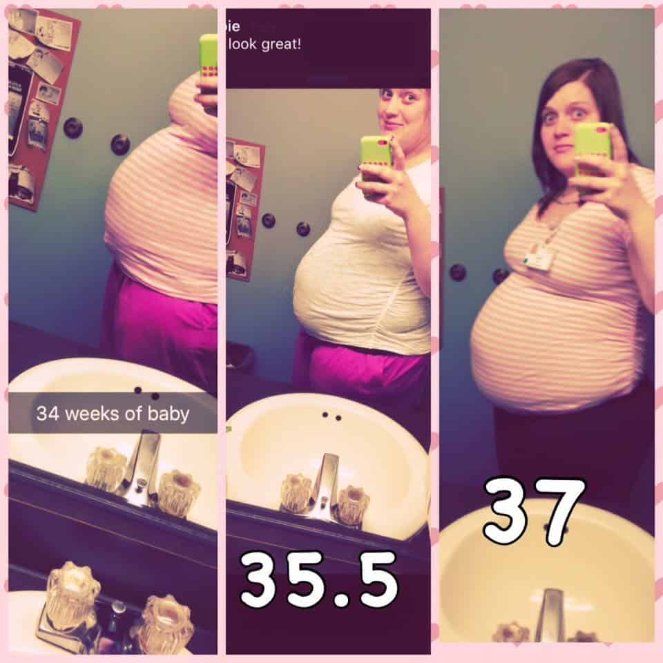 plus size woman 37 weeks pregnant