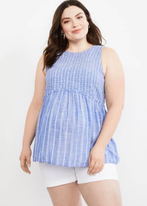 plus size maternity tank top