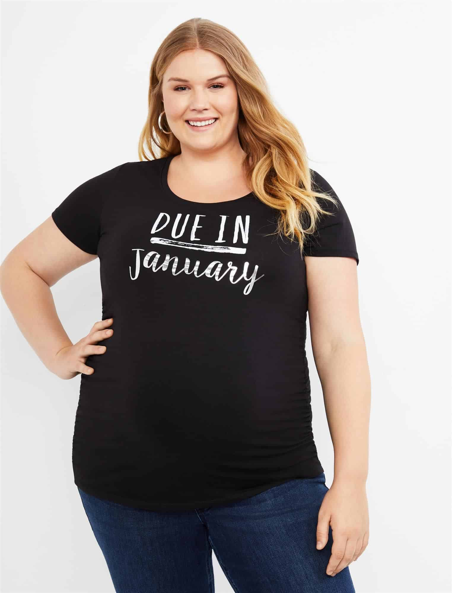 Due In January Plus Size Maternity