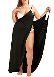 black plus size swim cover