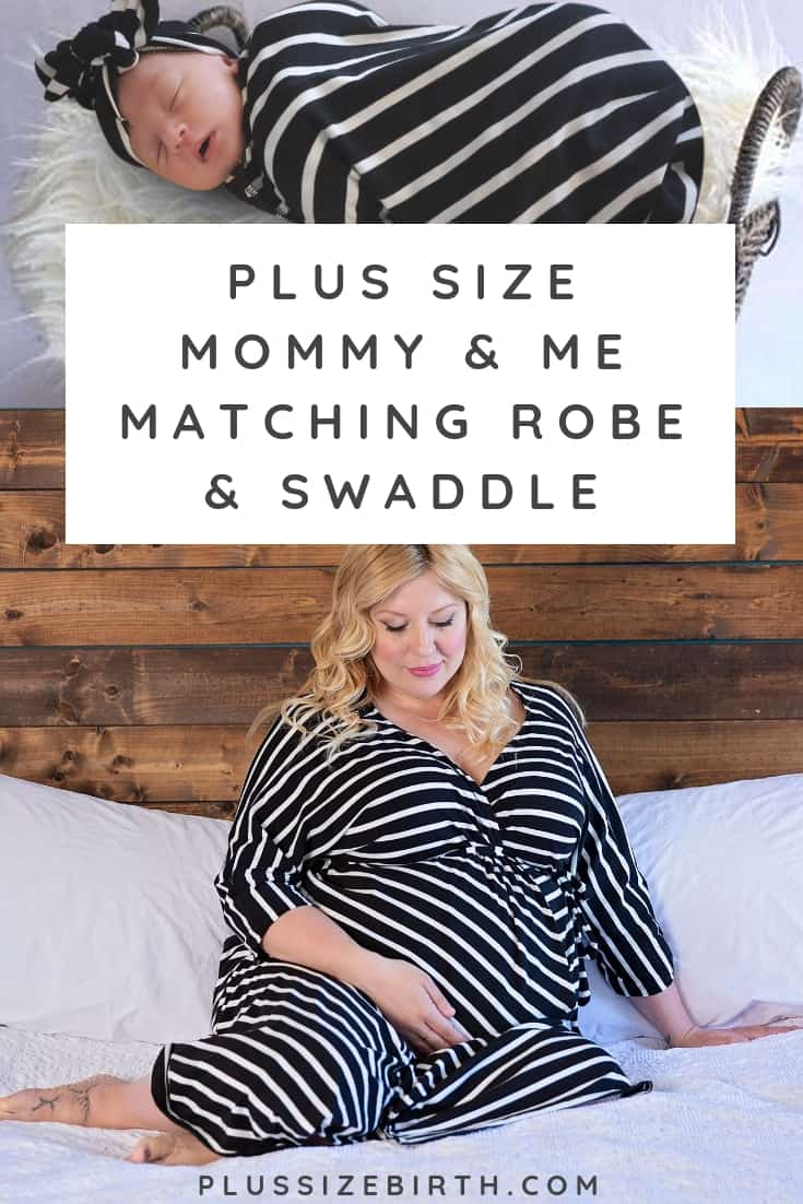 plus size maternity robe and swaddle