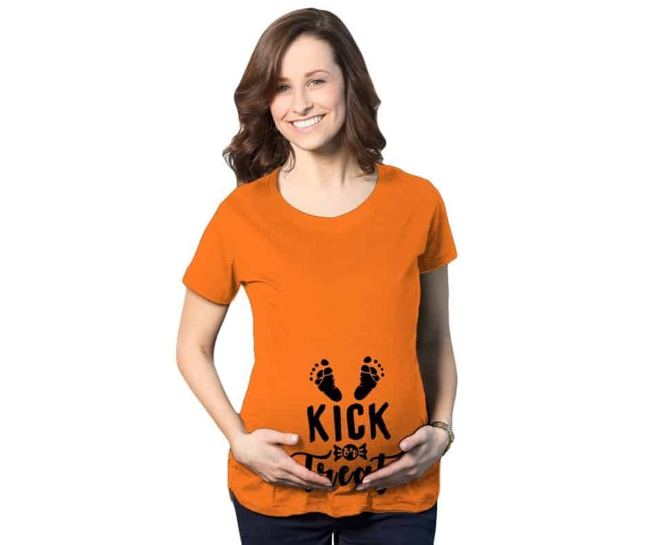 kick or treat plus size maternity shirt