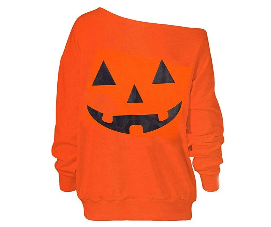 orange plus size pumpkin oversized sweatshirt