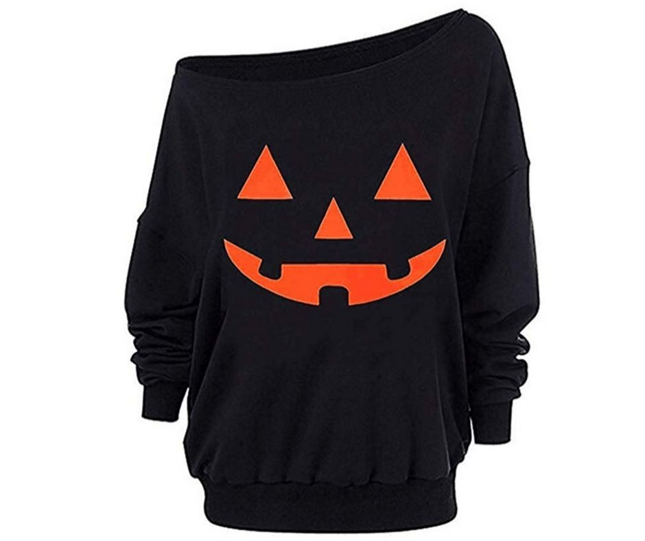 plus size pumpkin oversized sweatshirt