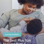 plus size woman nursing her baby