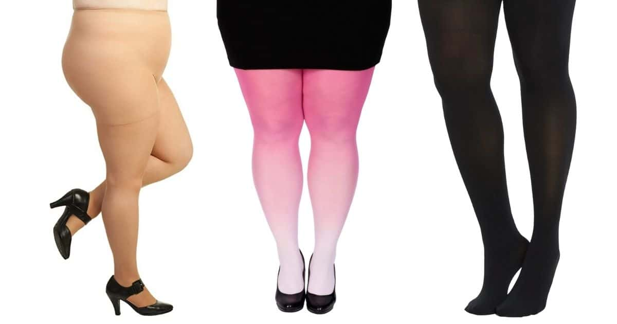 three pairs of Plus Size Maternity Tights