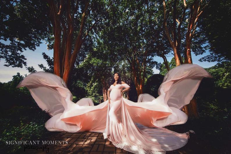 JandLDesignsBoutique etsy plus size butterfly maternity