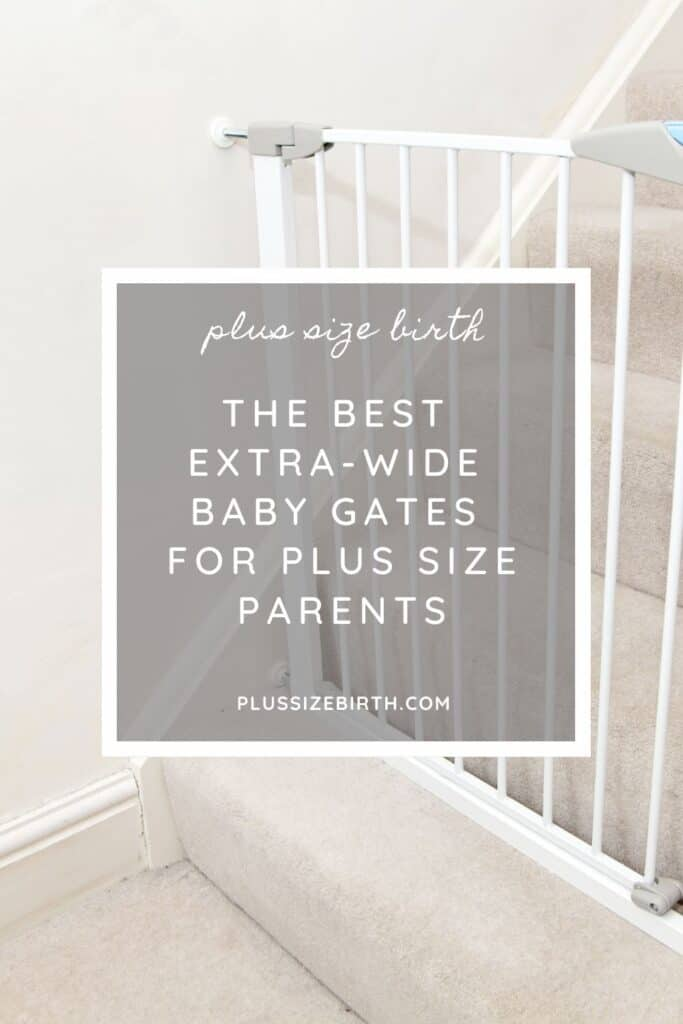 extra-wide baby gate white on stairs