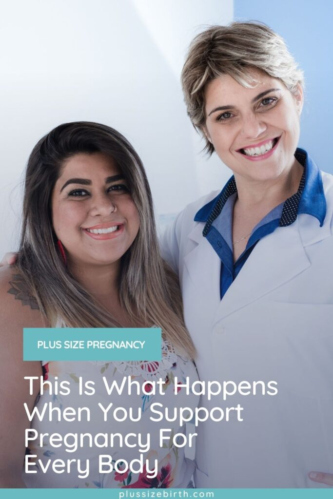 plus size pregnant woman with OBGYN