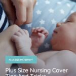newborn baby with mother feeding with a plus size nursing cover