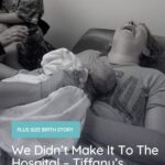 plus size woman giving birth